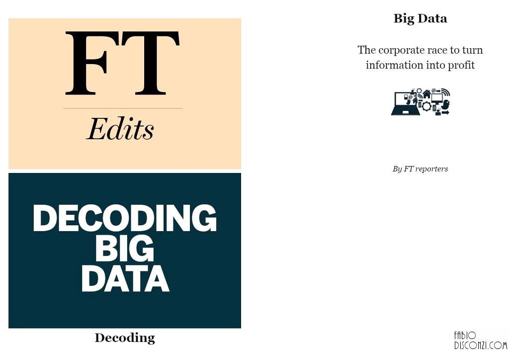 "Copertina del libro digitale del Financial Times ""Decoding Bid Data""."
