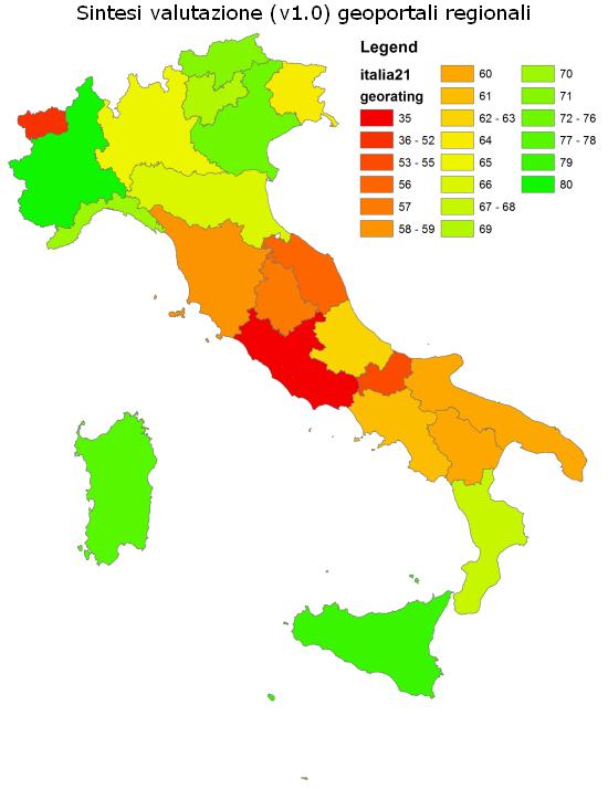 sintesi valutazione geoportali regionali italiani